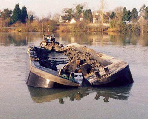 Split Hopper Barges, Yardno.125