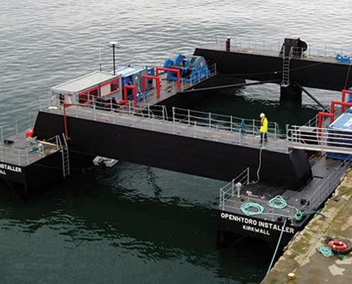 Openhydro Gravity Barge, Yardno. 158