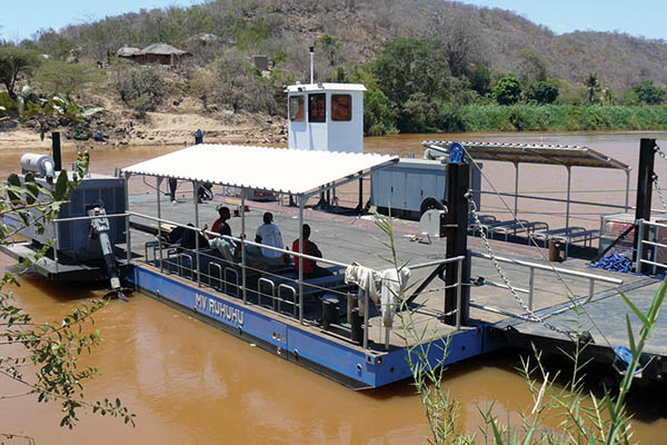 Ferry for Pangani River crossing, Yardnr. 148